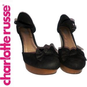Charlotte Russe Round-Toe Wedge Shoes
